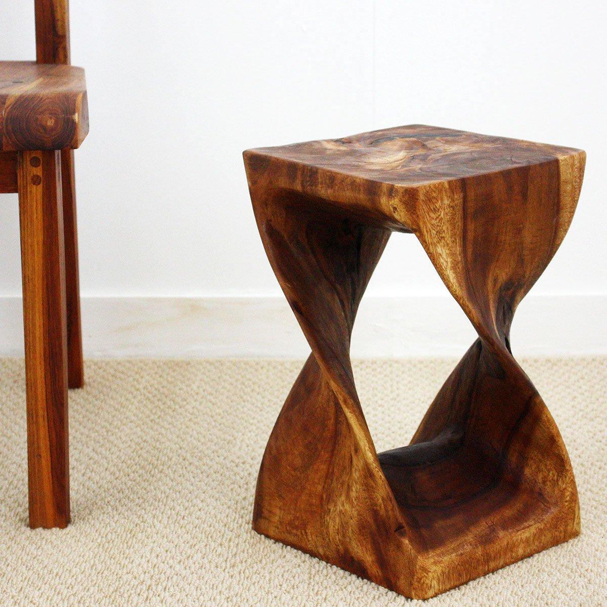 Haussmann TS1016-Wal Twist End Table, Walnut, 16''