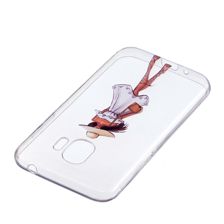 Transparente Silicone Coque pour Samsung Galaxy J2 Pro 2018 Housse Klassikaline Coque Samsung Galaxy J2 Pro 2018 Plume
