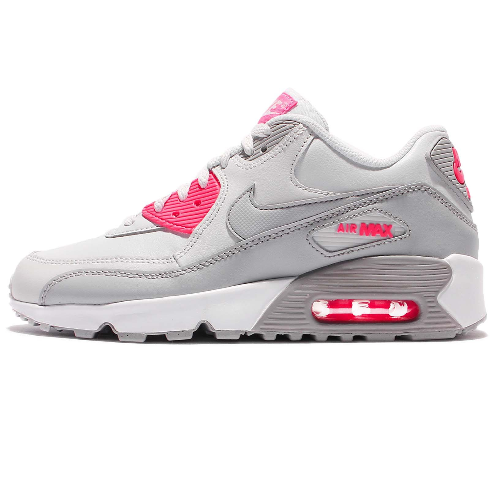 3326a4b5ea0dc NIKE Youths Air Max 90 Leather Trainers (5.5 M US Big Kid)