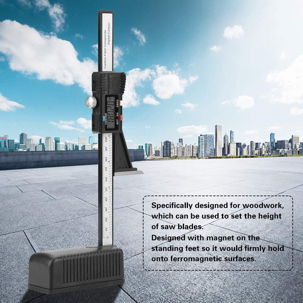 H/öhenmesser-0-150mm Digitaler Pr/äzisions-H/öhen/öffnungs-Tiefenmesser mit Magnetfu/ß