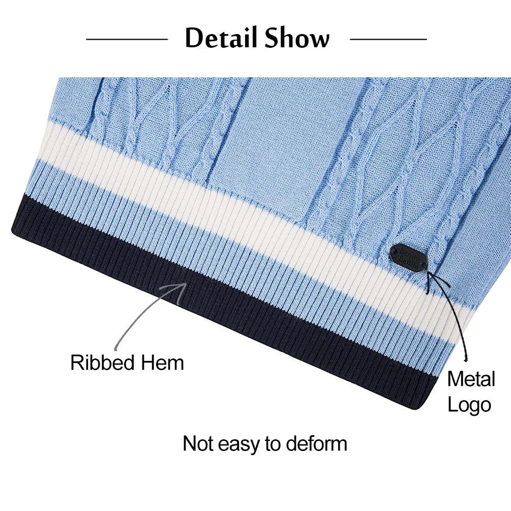 Benito & Benita Sweater Vest School Vest V-Neck Uniforms Cotton Cable-Knit Pullover for Boys/Girls 2-12Y Light Blue by Benito & Benita (Image #5)