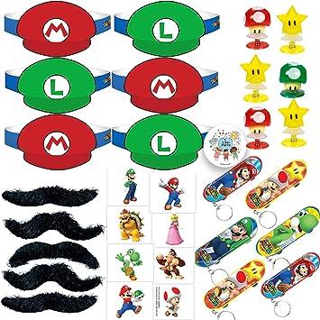 Amazon.com: Super Mario Bros – Pack de 12 favoritos para ...