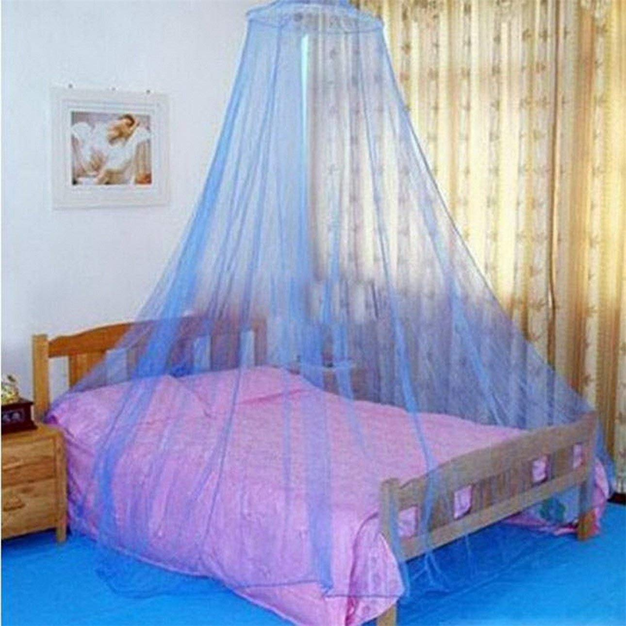 Liobaba Round Mosquito nets Luxury Princess Pastoral Lace Bed Canopy Net Crib