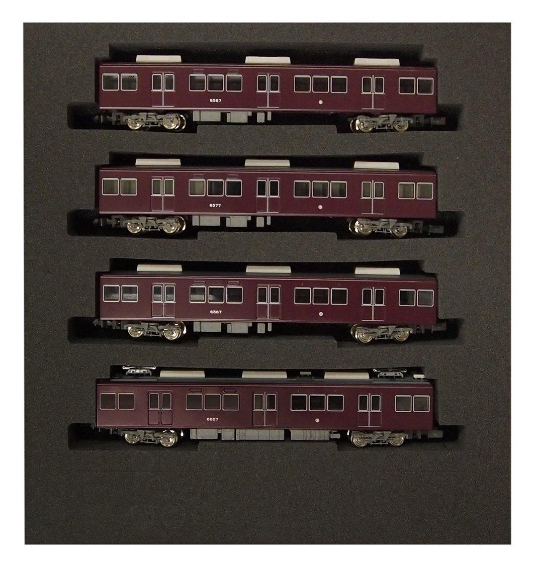 4-Car Set Escala N 4312 Hankyu serie 6000 pintura vieja Takarazuka Line hematopoyticas para la rueda intermedia (sin alimentacin) (pintado bienes terminados) (japn importacin)