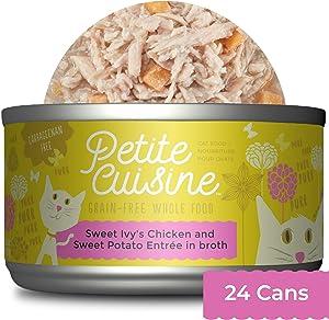 PETITE CUISINE Grain-Free Wet Cat Food, Sweet Ivy's Chicken & Sweet Potato, 24 cans 2.8 oz, 49119