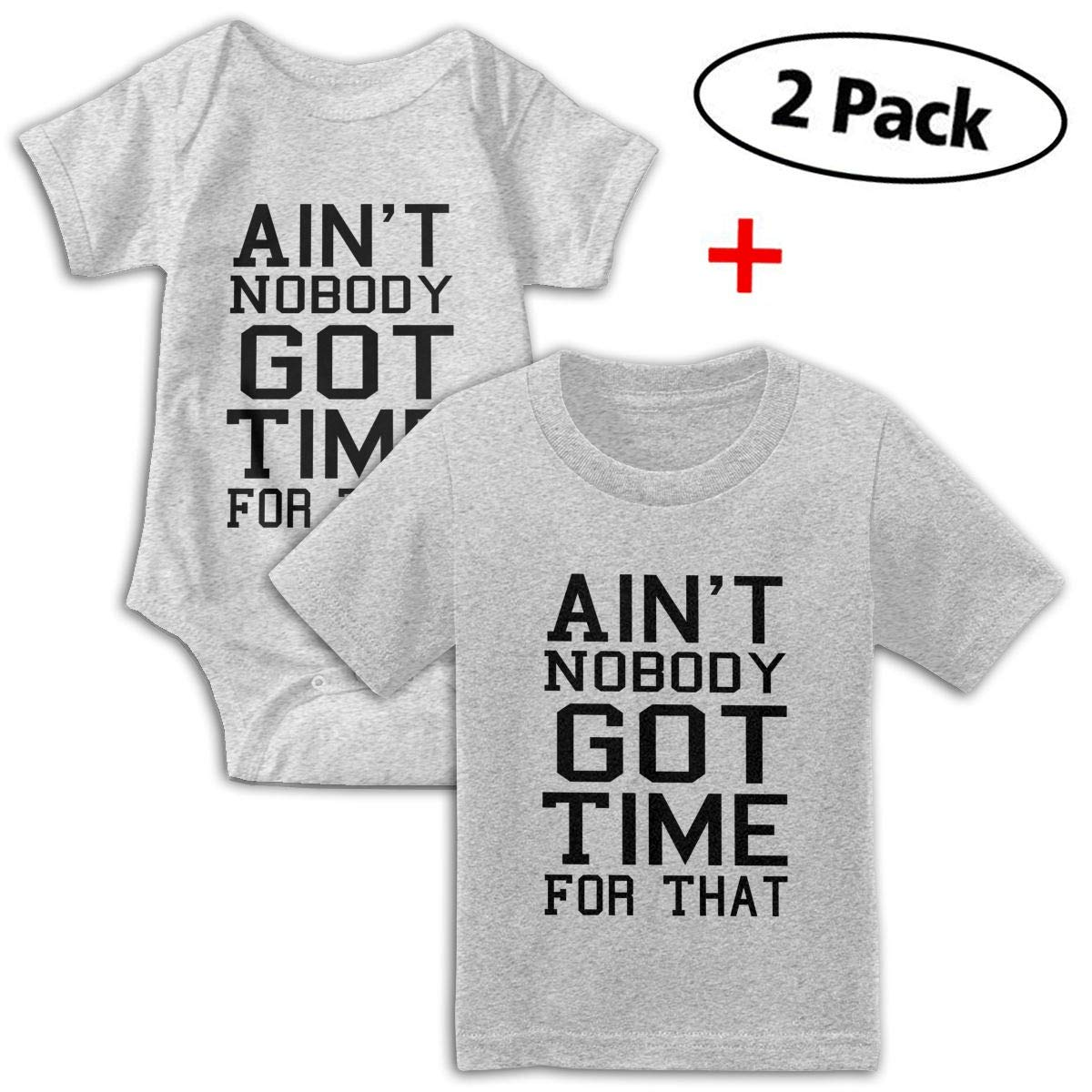 KAYERDELLE Aint Nobody Got Time for That Babys Boys /& Girls Short Sleeve Jumpsuit Outfits and Tee