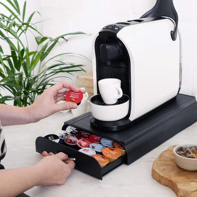 WYSD Coffee Pod Holder 60 Capsule Storage Organiser Tray Container Box Stand Space-Saving for Citiz,Nespresso Pixie Latissima Machines