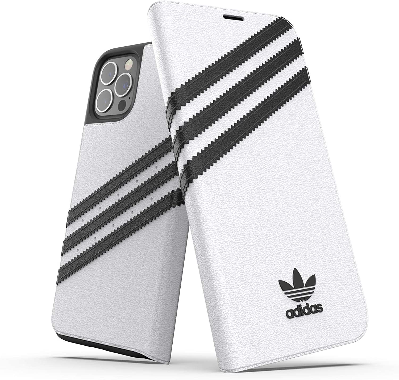 Adidas Handyhülle Entworfen Für Iphone 12 Plus Iphone 12 Pro Folio Booklet Drop Tested Cases Stoßfest Erhöhte Kanten Originals Schutzhülle Weiß Schwarz Elektronik