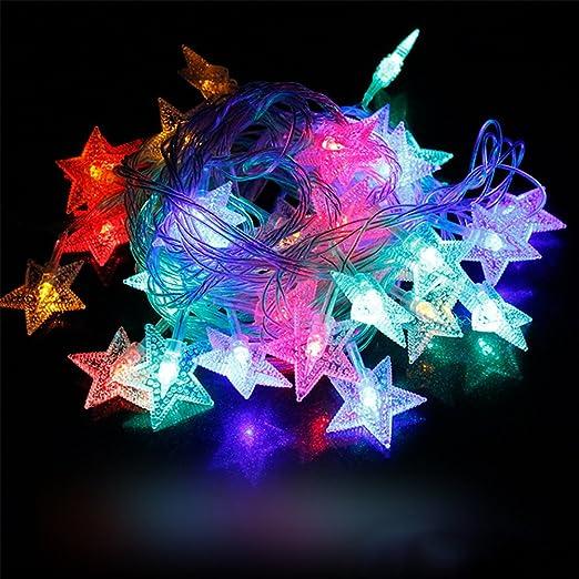 4 m estrellas LED Luz Cadenas con 20 luces LED Navidad decoración fiesta boda Decoración Lámpara