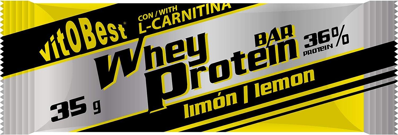 WHEY PROTEIN BAR 35 g LIMON (25 Uds.) - Suplementos Alimentación y Suplementos Deportivos - Vitobest