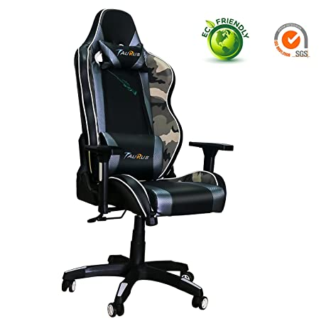 Astonishing Ergonomic Gaming Chair Taurus Computer Gaming Chair With Adjustable Armrest And Backrest Pu Leather Large Size Racing Chair With Headrest And Lumbar Dailytribune Chair Design For Home Dailytribuneorg
