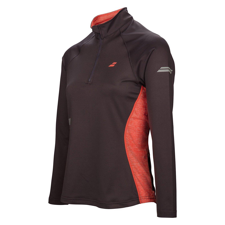 Babolat Women's Core 1/2 Zip Tennis Jacket (Dark Grey, Small)