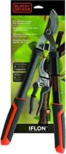 Black+Decker BD1822 21-Inch Lopper and 8-Inch Professional Pruner Combo Pack