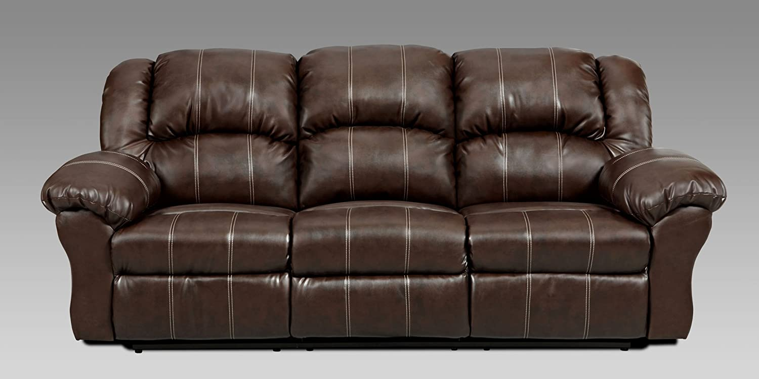 Amazon: Roundhill Furniture Brandan Bonded Leather Dual Reclining Sofa  And Loveseat, Brown: Kitchen & Dining