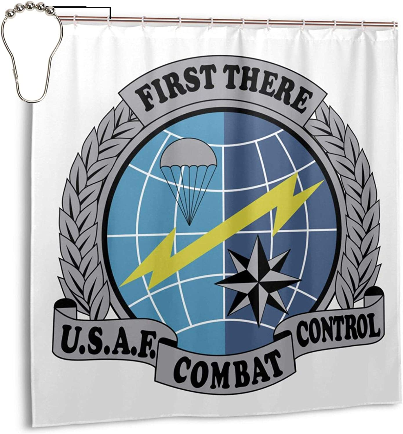 Amazon Com Usaf Combat Control Insignia Polyester Fabric Shower Curtain Bathroom Sets Home Decor 72 X 72 Inches Home Kitchen