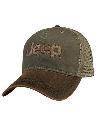 Jeep Brown Waxcloth Cap at Amazon Men s Clothing store  91307fb1db05