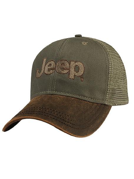 9405fb434e6b0 Jeep Brown Waxcloth Cap at Amazon Men s Clothing store