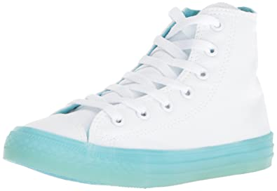 Converse Girls  Chuck Taylor All Star Translucent Color Midsole High Top  Sneaker White Bleached 1dafe03ce