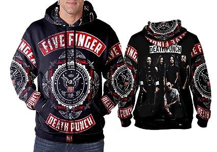 Amazoncom Five Finger Death Punch Art 3 Hoodie Man Sublimation