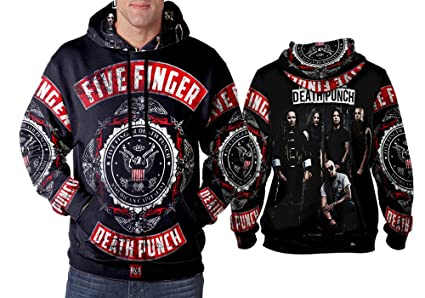 Five Finger Punch Art 3 Hooman Sublimation Fullprint Size S 3xl Pullover