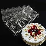 Grainrain Polycarbonate Chocolate Mold Clear PC Mold DIY Handmade Chocolate Pastry Tools DIY Mahjong Shaped