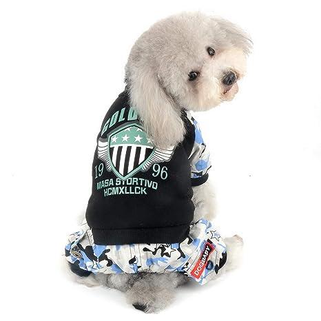 SELMAI - Mono de Forro Polar para Perro Abrigo de Invierno para Pantalones de Camuflaje Pijamas