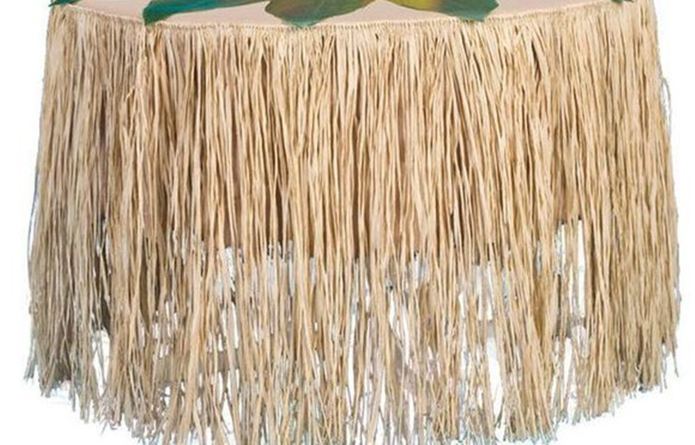 Raffia Table Skirt - LUAU Party Grass Table Skirt 9 feet x 29 inches