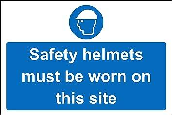Cascos de seguridad debe llevarse en este sitio seguridad señal – 1,2 mm plástico