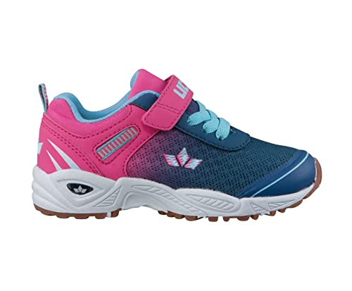 Lico Mädchen Sportschuh Blau Pink Gröe 26 bis 35 Kinder Sneaker Barney Vs