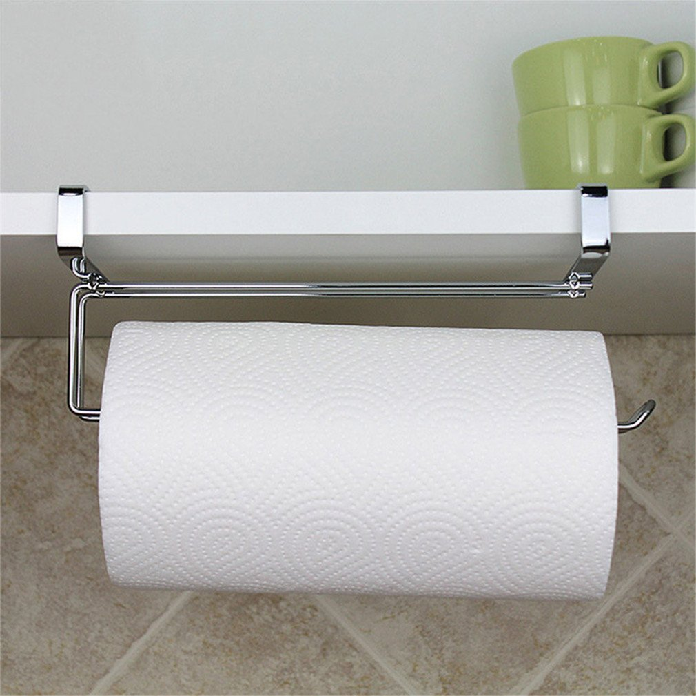 Kitchen Paper Holder Hanger Tissue Roll Towel Rack Bathroom Toilet Sink Door Hanging Organizer Storage Hook Holder