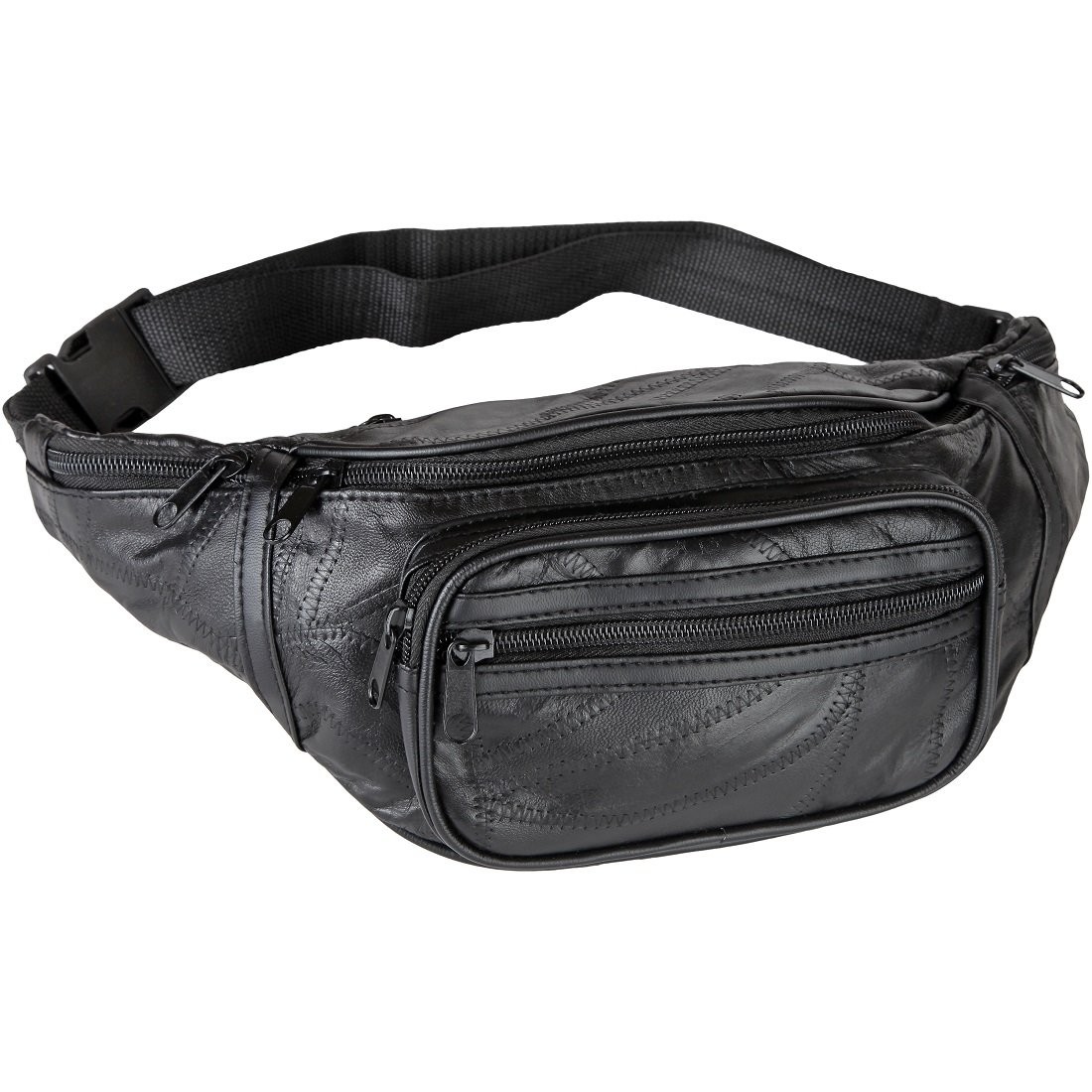 Home-X Genuine Leather Lambskin Waist Bag, Fanny Pack