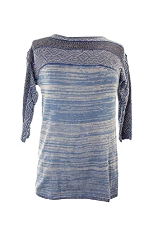American Living Marled-Knit /-Sleeve Top S