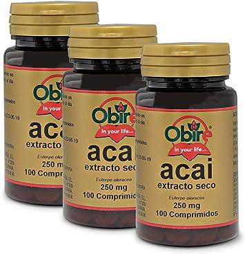 Acai 1000 mg. (ext. seco 250 mg.) 100 comprimidos (Pack 3 unid ...