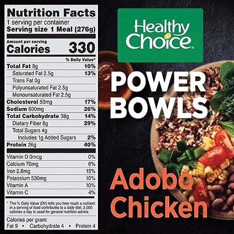 Healthy Choice Power Bowls Frozen Dinner Adobo Chicken Bowl 975