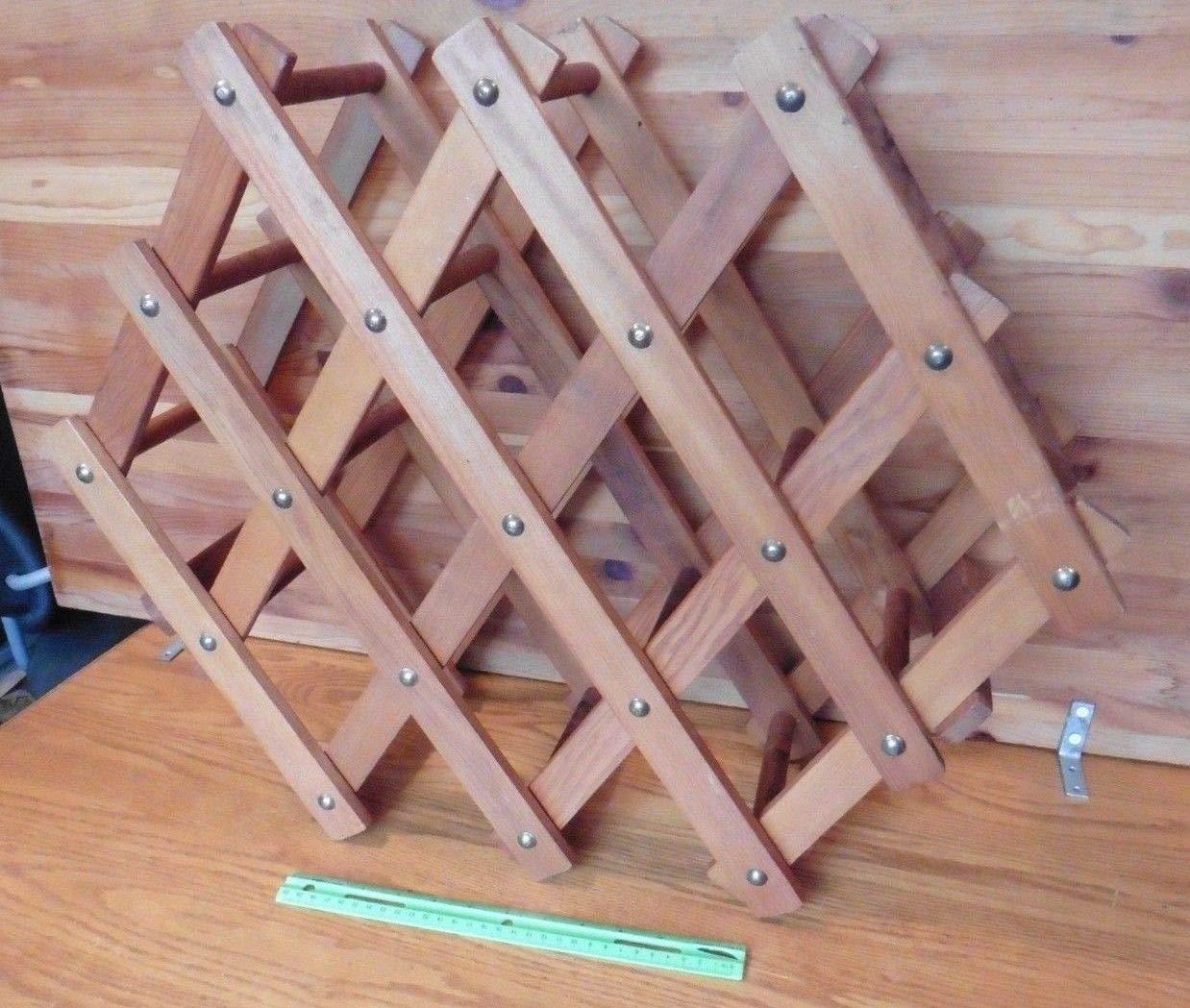 Astonishing Amazon Com Wine Rack Wooden Bottle Holder Collapsible Theyellowbook Wood Chair Design Ideas Theyellowbookinfo