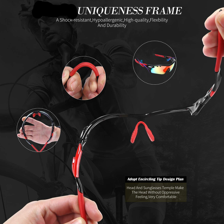 Amazon.com: JOGVELO Gafas de sol deportivas polarizadas ...