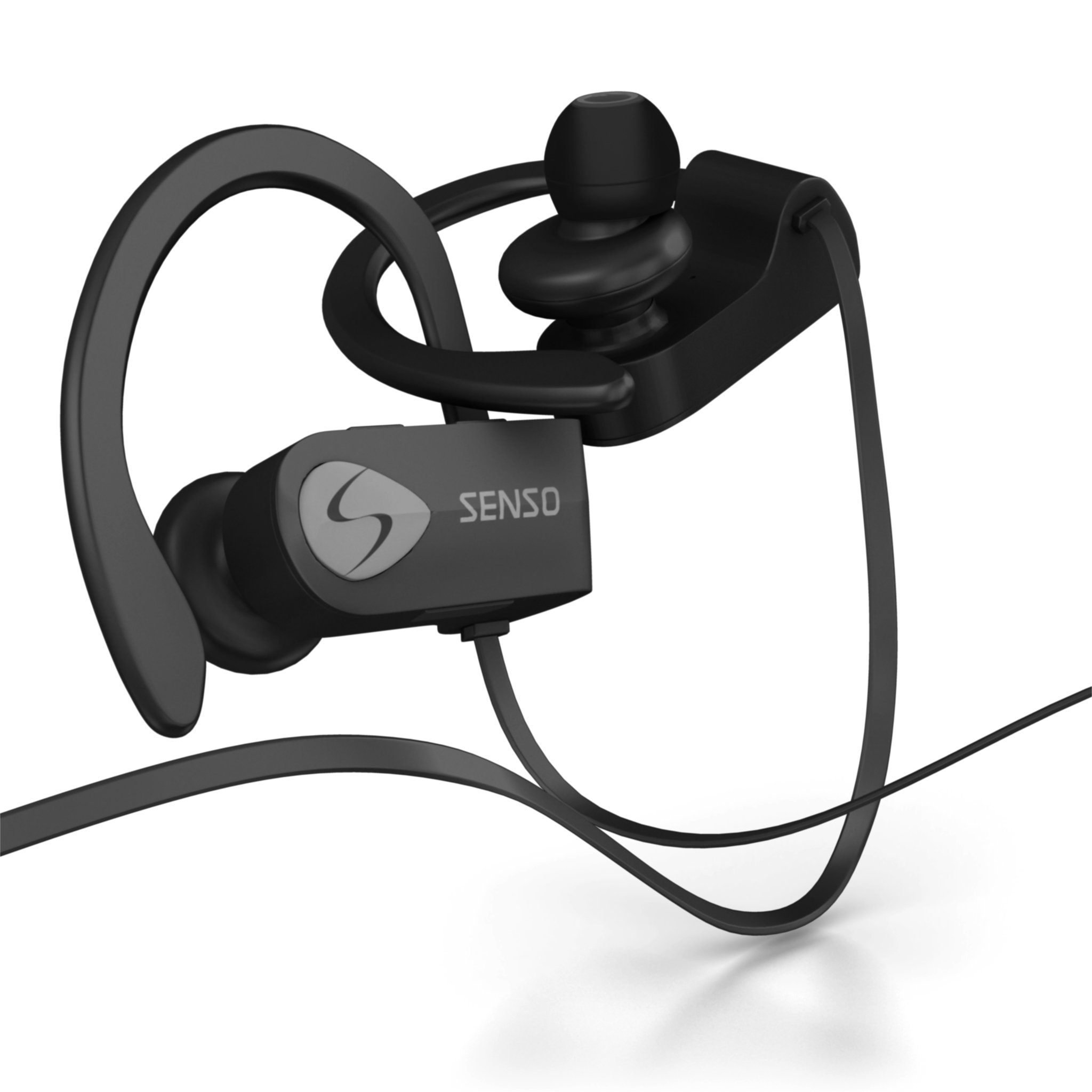 SENSO Bluetooth Headphones, Best Wireless Sports Earphones w/Mic IPX7 Waterproof HD Stereo Sweatproof Earbuds for Gym Running Workout 8 Hour Battery Noise Cancelling Headsets (Grey) by Senso (Image #8)