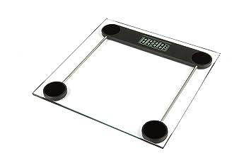 Báscula de baño digital. 180 Kg. Gran precisión. Pantalla LCD. Cristal templado Transparente y base Antideslizante.: Amazon.es: Salud y cuidado personal