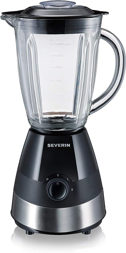 SEVERIN SM 3718 Batidora de vaso con recipiente de cristal, 550 W ...