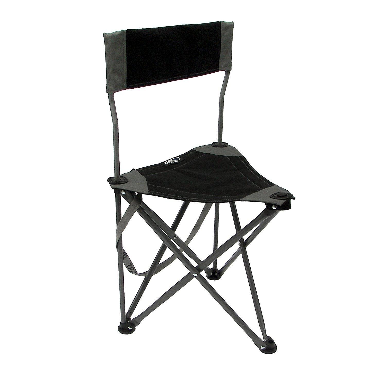TravelChair 2.0 Ultimate Slacker Chair Folding Tripod Camp Stool with Backrest Black [並行輸入品] B0784H5Z8F