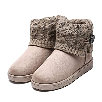 7bf384f91ce Amazon.com: Kyle Walsh Pa Women Snow Boots Winter Ankle Booties Warm ...