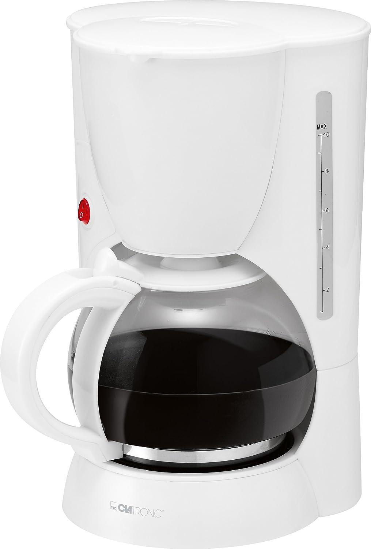 Clatronic KA 3385 - Cafetera eléctrica, color blanco: Amazon.es: Hogar