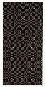 """Home Collection by Raghu Lover's Knot Jacquard Black and Mustard Towel, 18 by 28"""" Set of 6"""