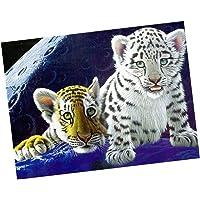 HOMYL 5D Diy Diamond Painting Cross Stitch Embroidery Tiger Mosaic Pattern Rhinestone Pasted Needlework For Children