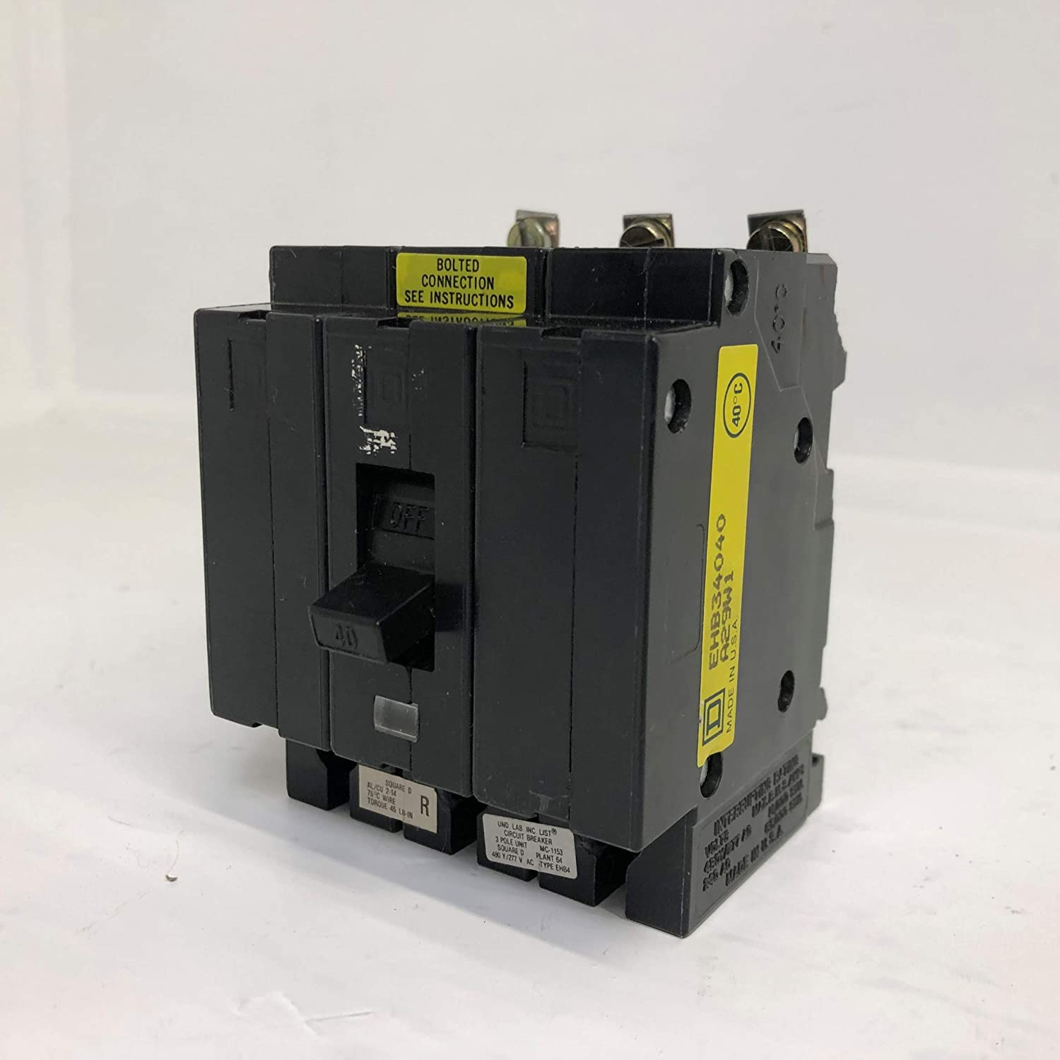 Bolt-on type panelboard branch breaker by SQUARE D EHB34040