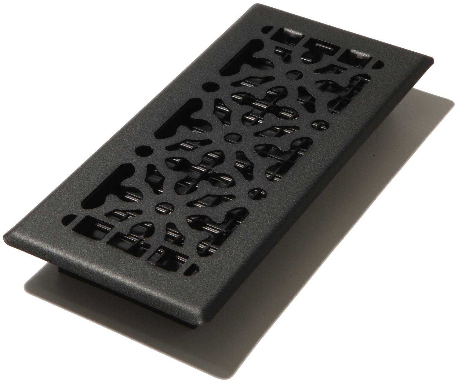 Decor Grates AGH410-BLK 4-Inch by 10-Inch Gothic Black Steel Floor Register