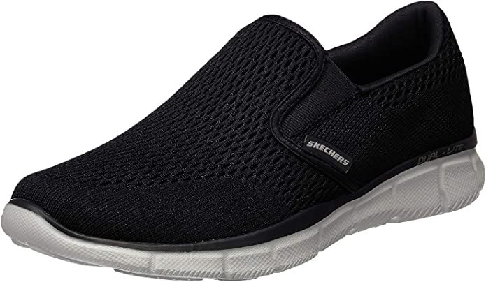 Skechers Equalizer Double Play Sneakers Herren Schwarz/Weiß