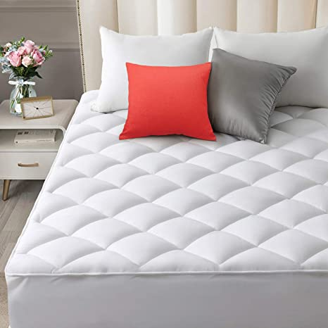 Cooling Cotton Pillowtop Matress Pad Fitted Thick Topper Breathable Deep Pocket