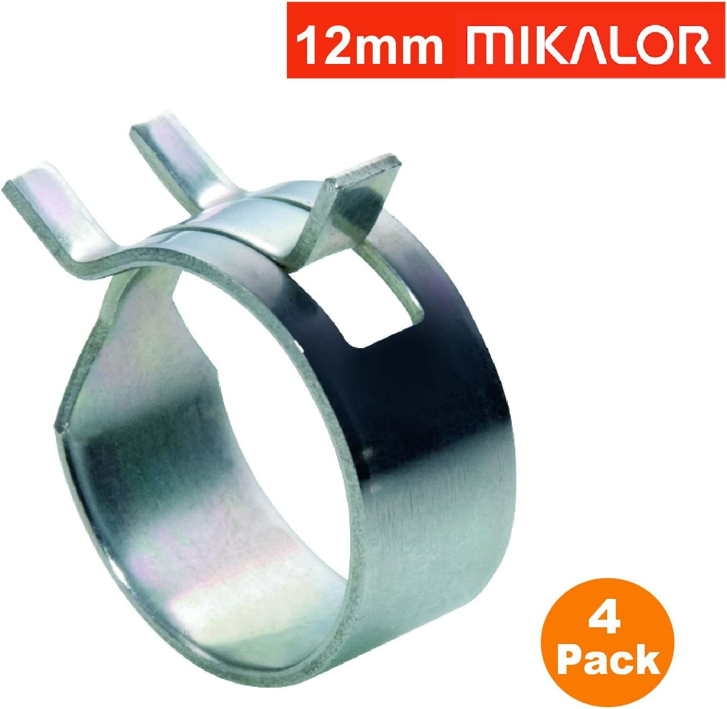 Mikalor 4 x 14mm W1 selbst Klemmfeder Schlauch Clips Silikon Rohr Luft-Kraftstoff-Band
