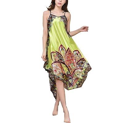 AILIENT Femme Fashion Chemise de Nuit Robe Peignoir Nuisette Robe de Chambre Grande Taille Baggy Bretelles Robe de Nuit Plusieurs Coloris